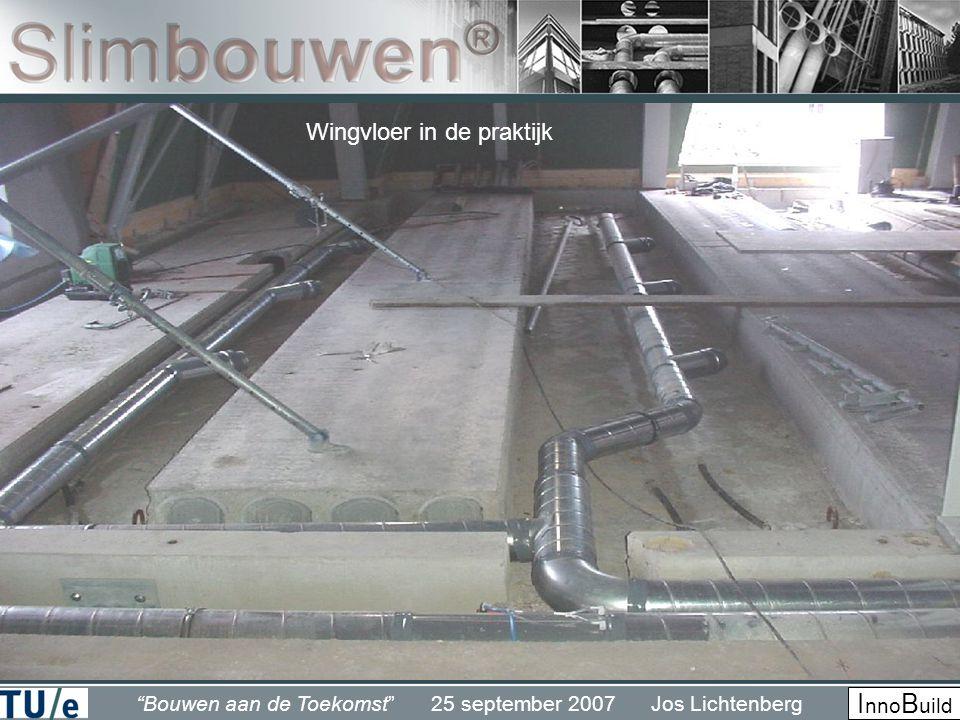 Bouwen aan de Toekomst 25 september 2007 Jos Lichtenberg I nno B uild Wingvloer in de praktijk