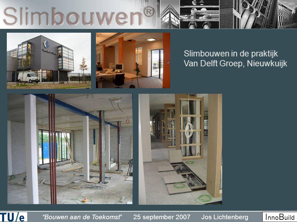 """""""Bouwen aan de Toekomst"""" 25 september 2007 Jos Lichtenberg I nno B uild Slimbouwen in de praktijk Van Delft Groep, Nieuwkuijk"""