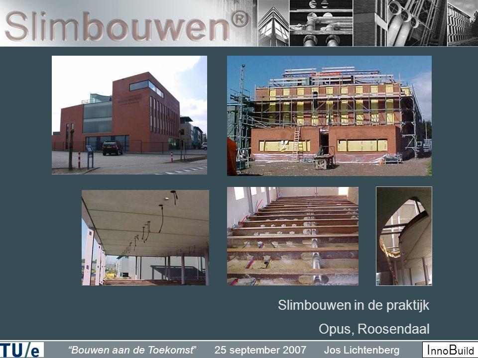 Bouwen aan de Toekomst 25 september 2007 Jos Lichtenberg I nno B uild Slimbouwen in de praktijk Opus, Roosendaal
