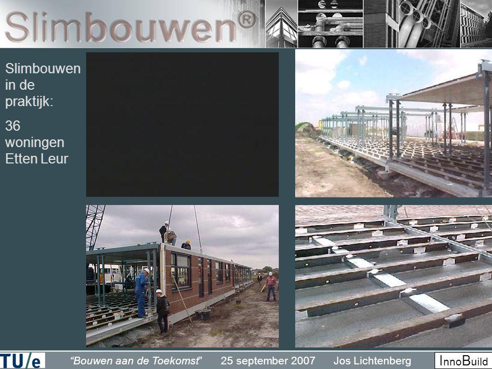 """""""Bouwen aan de Toekomst"""" 25 september 2007 Jos Lichtenberg I nno B uild Slimbouwen in de praktijk: 36 woningen Etten Leur"""