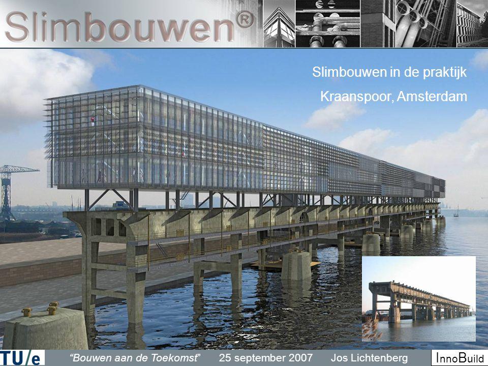 Bouwen aan de Toekomst 25 september 2007 Jos Lichtenberg I nno B uild Slimbouwen in de praktijk Kraanspoor, Amsterdam
