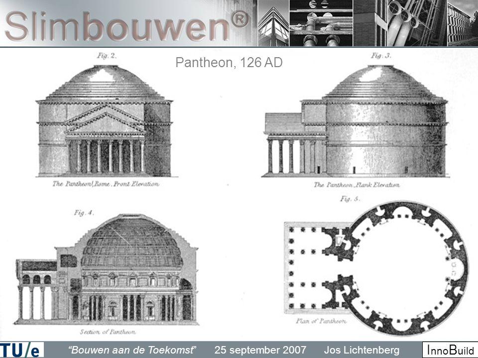 Bouwen aan de Toekomst 25 september 2007 Jos Lichtenberg I nno B uild Pantheon, 126 AD