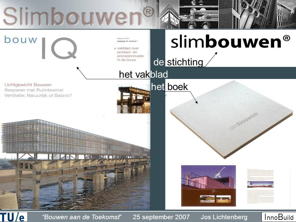 Bouwen aan de Toekomst 25 september 2007 Jos Lichtenberg I nno B uild de stichting het boek het vakblad