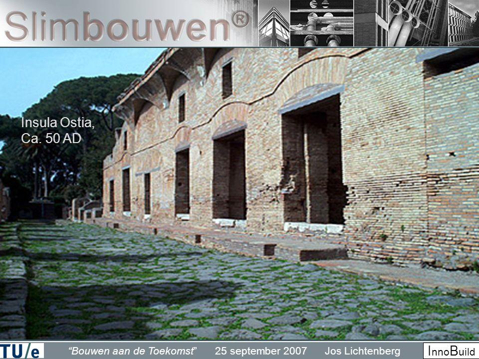 Bouwen aan de Toekomst 25 september 2007 Jos Lichtenberg I nno B uild Insula Ostia, Ca. 50 AD