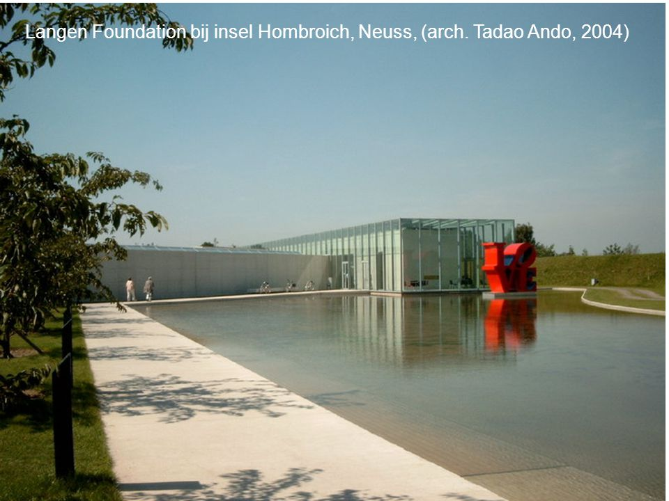 Langen Foundation bij insel Hombroich, Neuss, (arch. Tadao Ando, 2004)