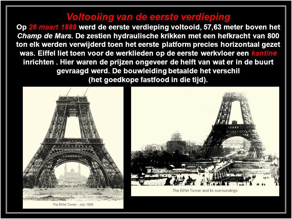 Kritiek Toen de bouw van de toren eenmaal aan de gang was kreeg Eiffel het publiek snel op zijn hand. Zelfs vergeleken met het Garabit viaduct was dit