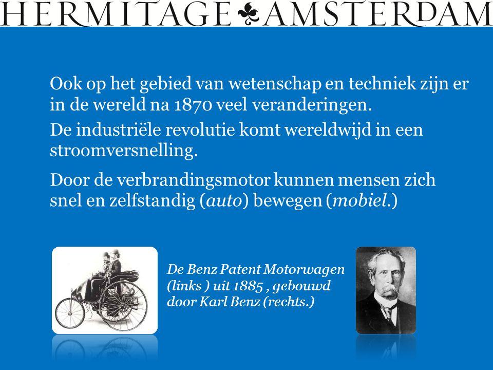 Ook op het gebied van wetenschap en techniek zijn er in de wereld na 1870 veel veranderingen. De industriële revolutie komt wereldwijd in een stroomve