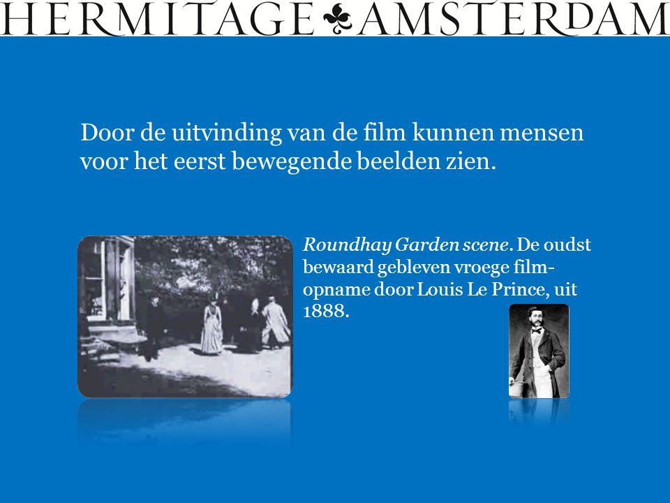 Roundhay Garden scene. De oudst bewaard gebleven vroege film- opname door Louis Le Prince, uit 1888. Door de uitvinding van de film kunnen mensen voor