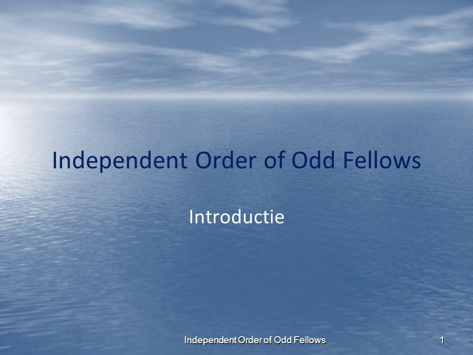 2 (IOOF) U heeft deze presentatie geopend om meer te weten te komen over de Odd Fellows.