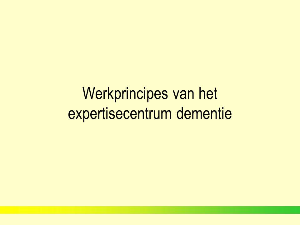 Werkprincipes van het expertisecentrum dementie Casus Mevr.