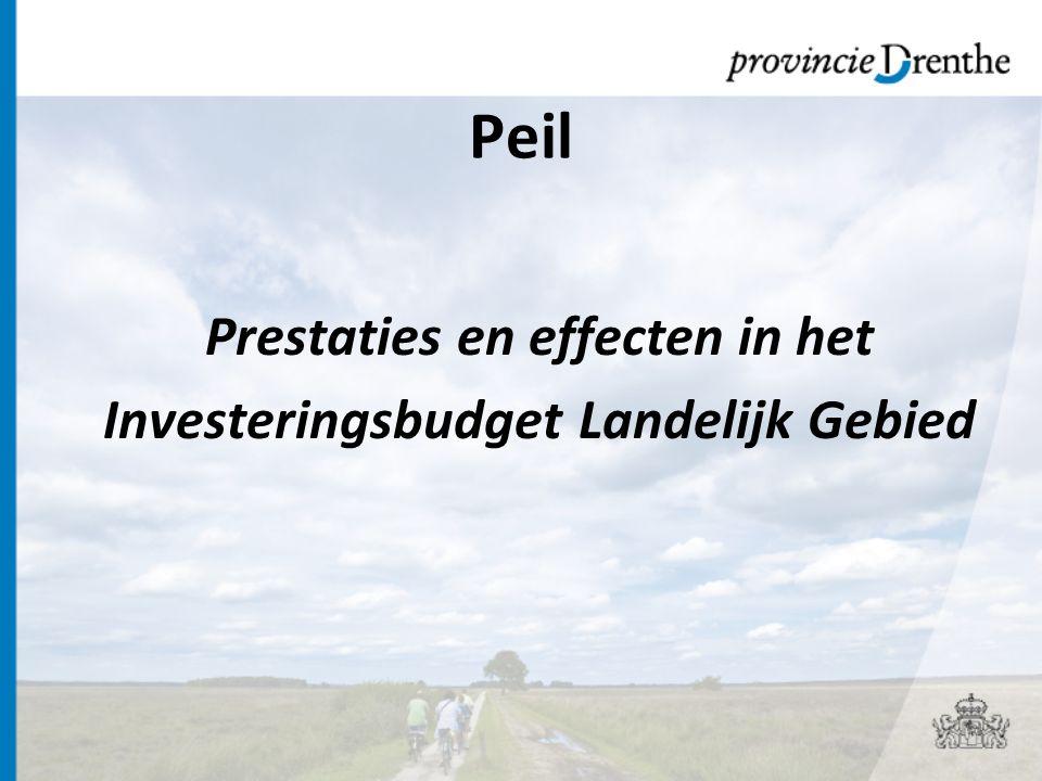 Prestaties en effecten in het Investeringsbudget Landelijk Gebied Peil