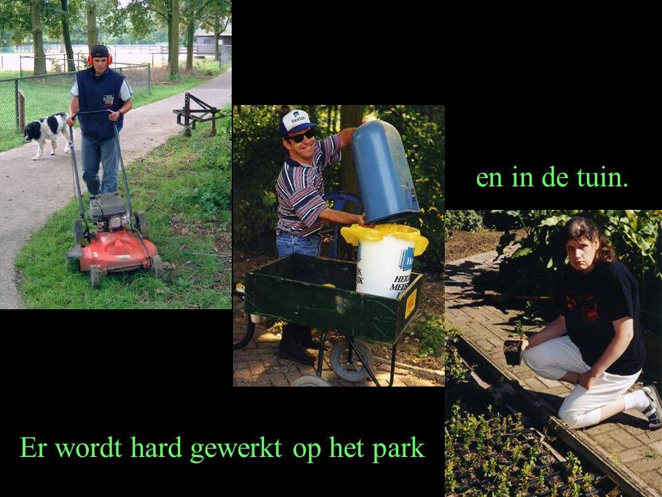 Er wordt hard gewerkt op het park en in de tuin.