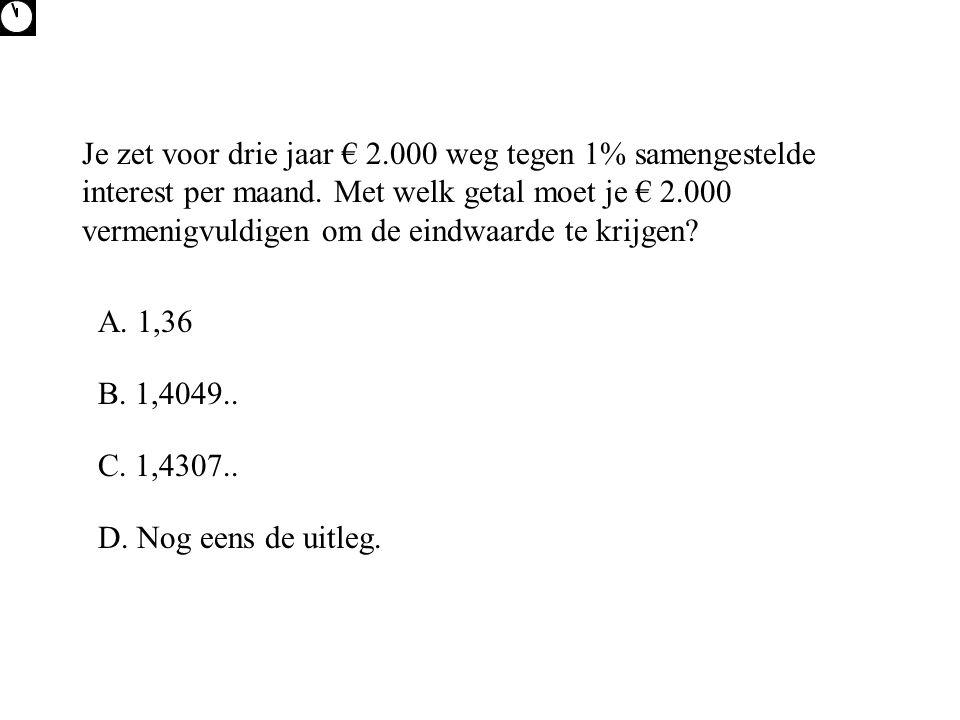 Op 1-6-2008 krijg je van je ouders € 1.000 uitgekeerd als je tot die tijd niet gerookt hebt.