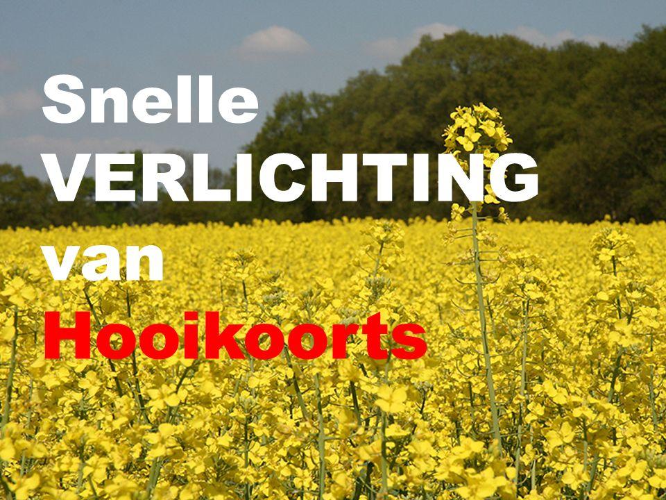 Snelle VERLICHTING van Hooikoorts