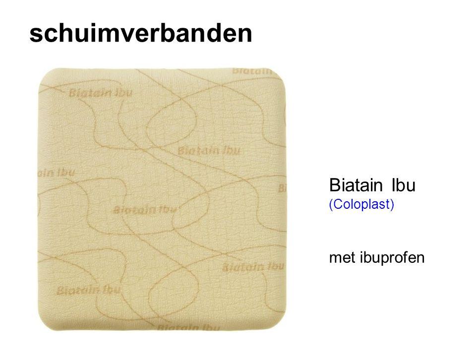 schuimverbanden Biatain Ibu (Coloplast) met ibuprofen
