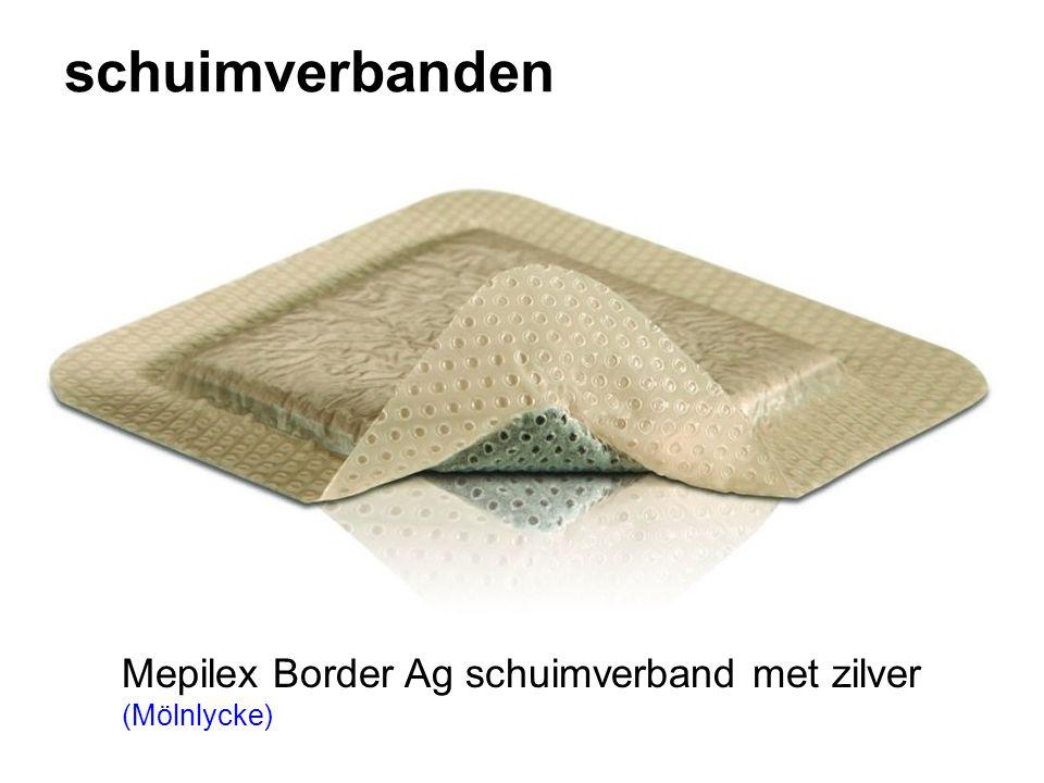 schuimverbanden Mepilex Border Ag schuimverband met zilver (Mölnlycke)
