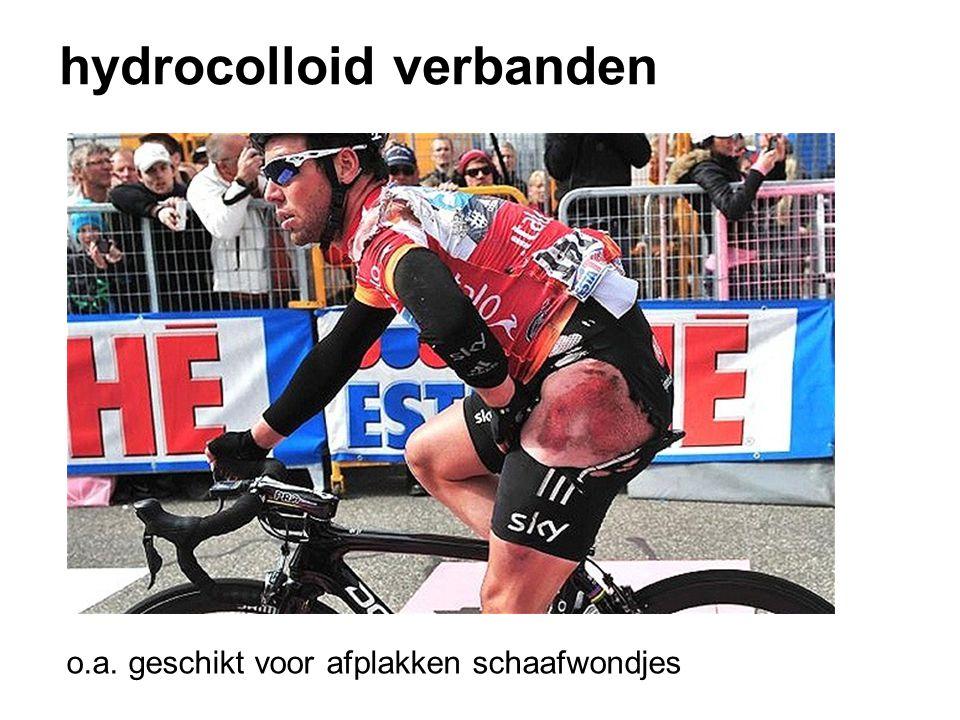 hydrocolloid verbanden o.a. geschikt voor afplakken schaafwondjes