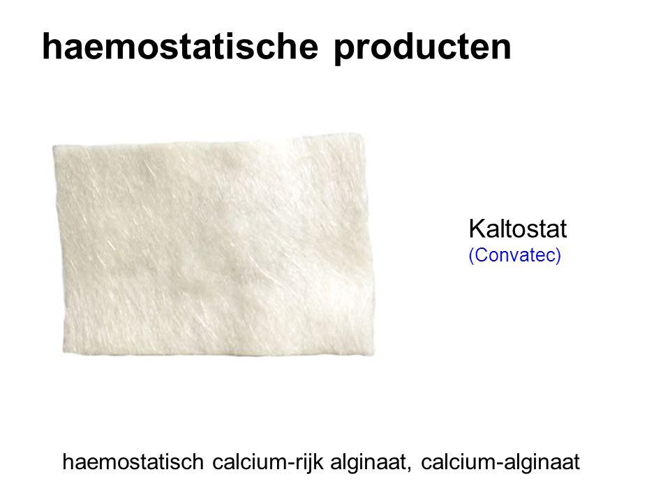 haemostatische producten Kaltostat (Convatec) haemostatisch calcium-rijk alginaat, calcium-alginaat
