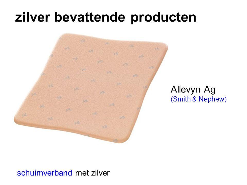 zilver bevattende producten schuimverband met zilver Allevyn Ag (Smith & Nephew)