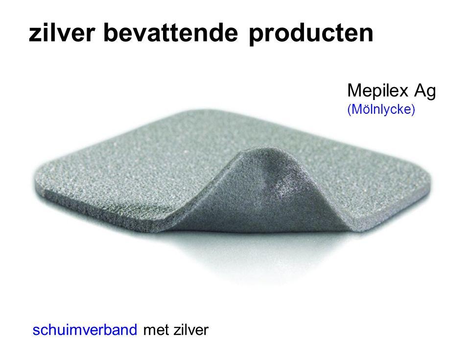 zilver bevattende producten Mepilex Ag (Mölnlycke) schuimverband met zilver