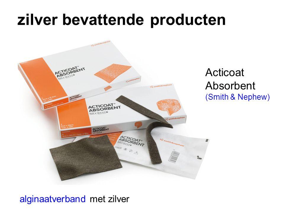 zilver bevattende producten alginaatverband met zilver Acticoat Absorbent (Smith & Nephew)