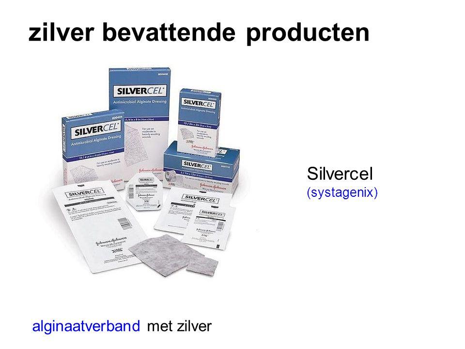 zilver bevattende producten alginaatverband met zilver Silvercel (systagenix)