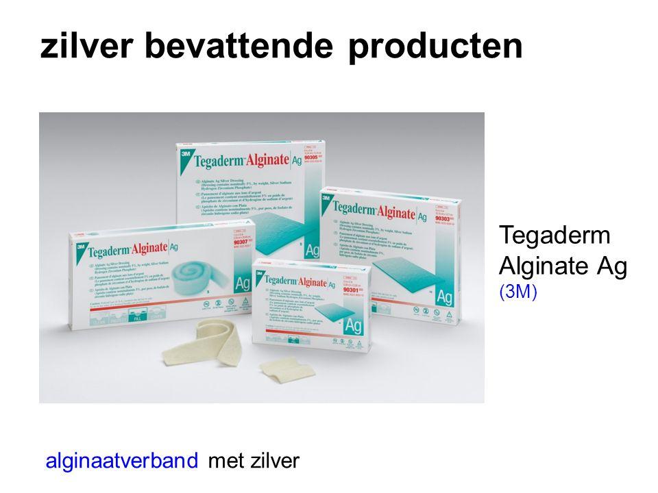 zilver bevattende producten alginaatverband met zilver Tegaderm Alginate Ag (3M)