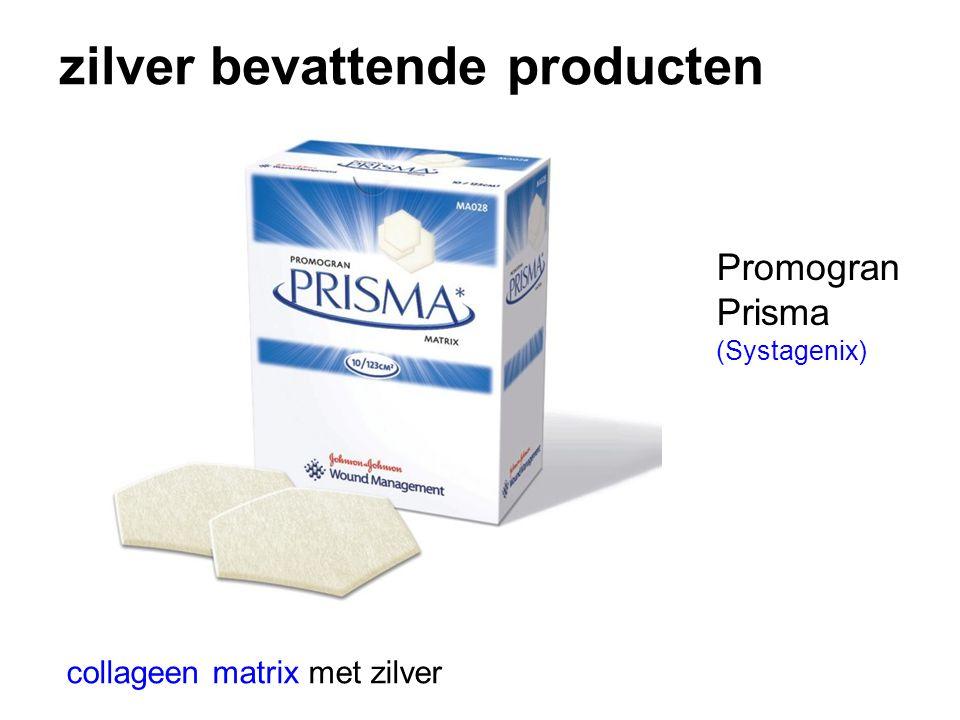 zilver bevattende producten collageen matrix met zilver Promogran Prisma (Systagenix)