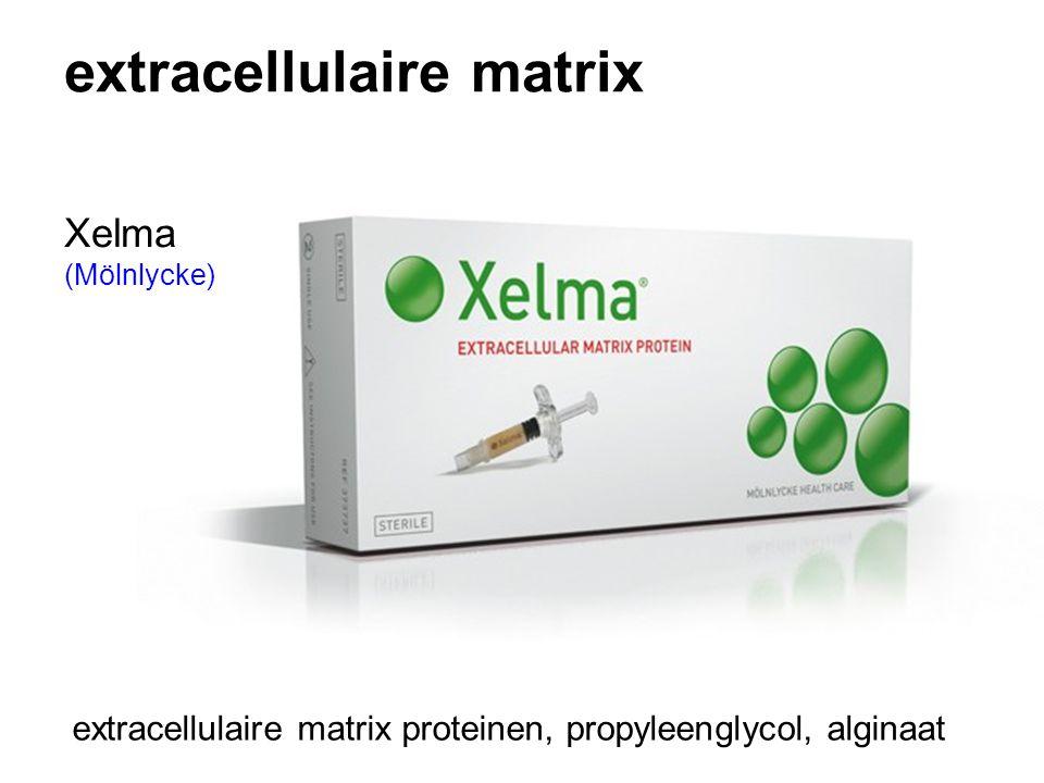 extracellulaire matrix extracellulaire matrix proteinen, propyleenglycol, alginaat Xelma (Mölnlycke)