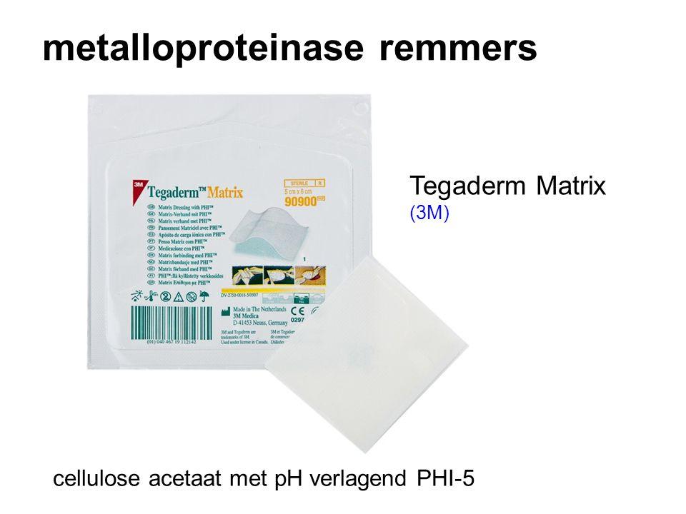 metalloproteinase remmers cellulose acetaat met pH verlagend PHI-5 Tegaderm Matrix (3M)