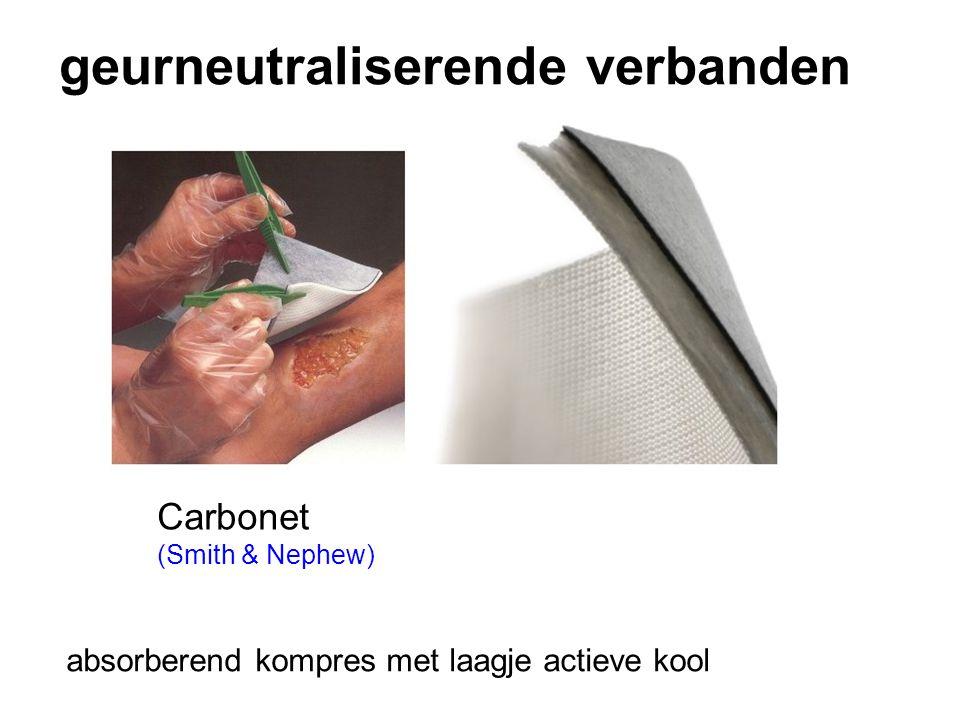 geurneutraliserende verbanden Carbonet (Smith & Nephew) absorberend kompres met laagje actieve kool