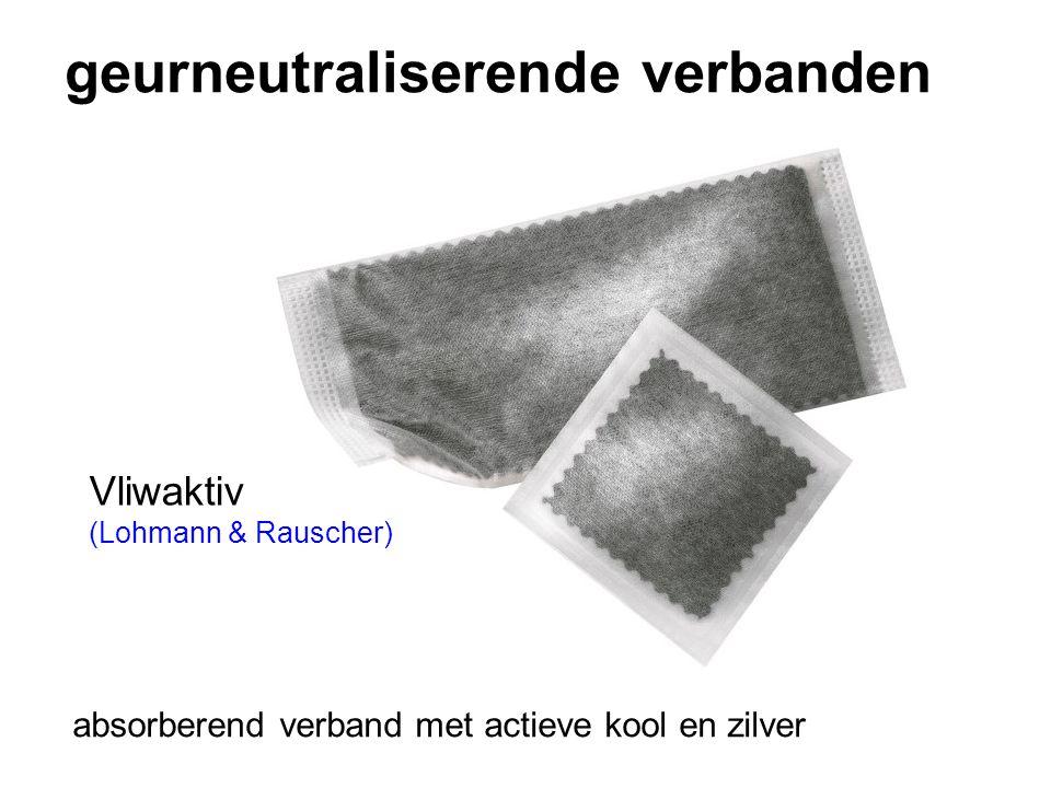 geurneutraliserende verbanden Vliwaktiv (Lohmann & Rauscher) absorberend verband met actieve kool en zilver