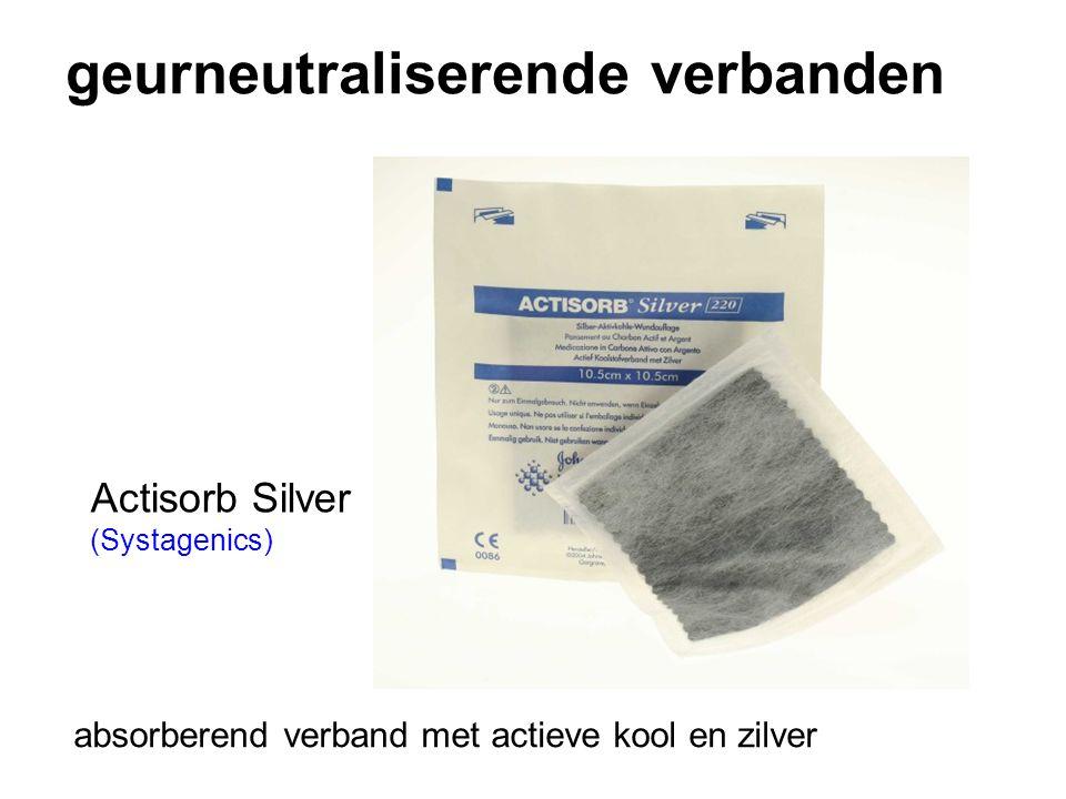 geurneutraliserende verbanden Actisorb Silver (Systagenics) absorberend verband met actieve kool en zilver