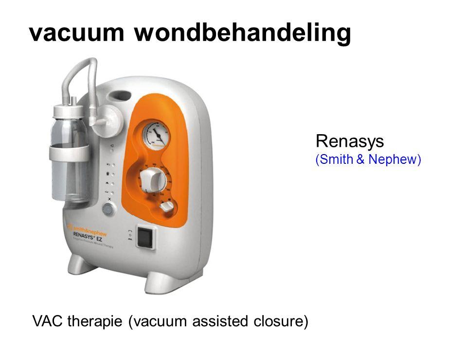 vacuum wondbehandeling Renasys (Smith & Nephew) VAC therapie (vacuum assisted closure)