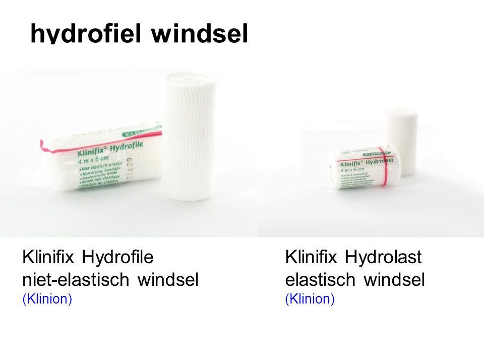 hydrofiel windsel Klinifix Hydrofile niet-elastisch windsel (Klinion) Klinifix Hydrolast elastisch windsel (Klinion)