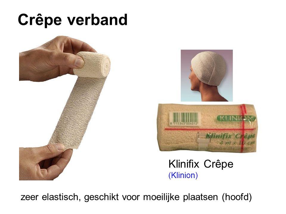 Crêpe verband Klinifix Crêpe (Klinion) zeer elastisch, geschikt voor moeilijke plaatsen (hoofd)