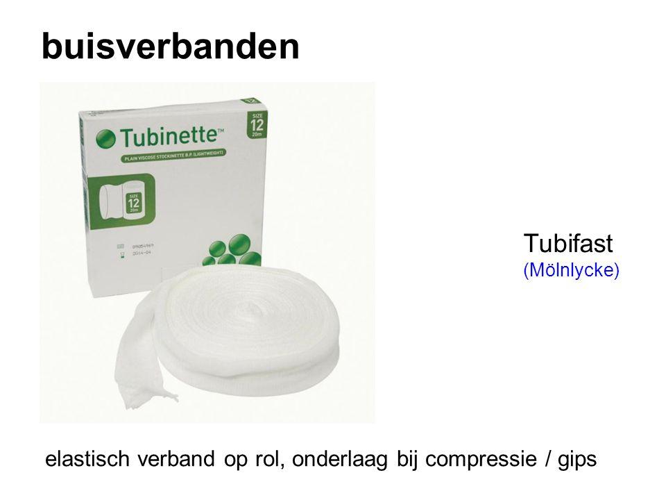 buisverbanden Tubifast (Mölnlycke) elastisch verband op rol, onderlaag bij compressie / gips