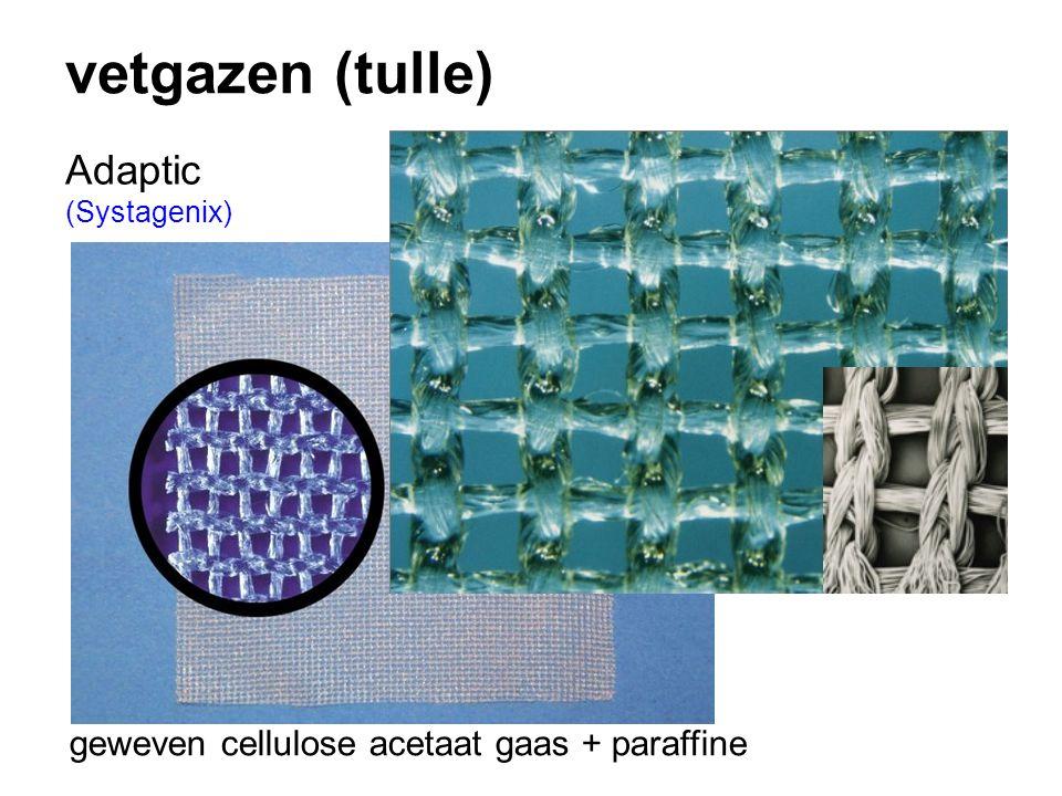 vetgazen (tulle) Adaptic (Systagenix) geweven cellulose acetaat gaas + paraffine