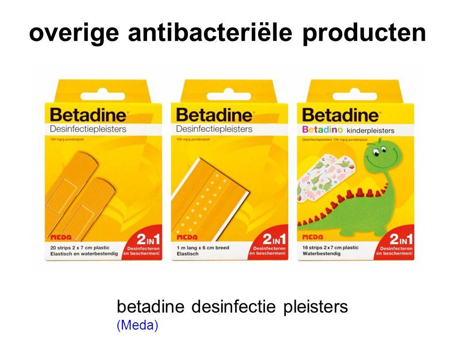 overige antibacteriële producten betadine desinfectie pleisters (Meda)