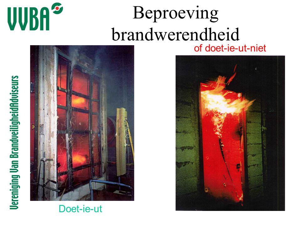 Beproeving brandwerendheid Doet-ie-ut of doet-ie-ut-niet