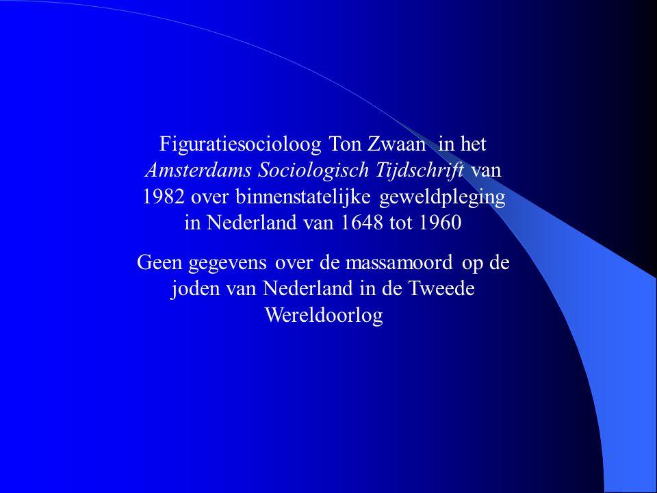 Figuratiesocioloog Ton Zwaan in het Amsterdams Sociologisch Tijdschrift van 1982 over binnenstatelijke geweldpleging in Nederland van 1648 tot 1960 Ge