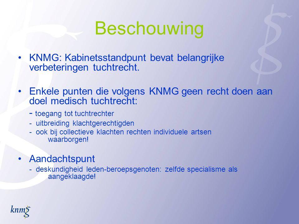 Beschouwing •KNMG: Kabinetsstandpunt bevat belangrijke verbeteringen tuchtrecht.