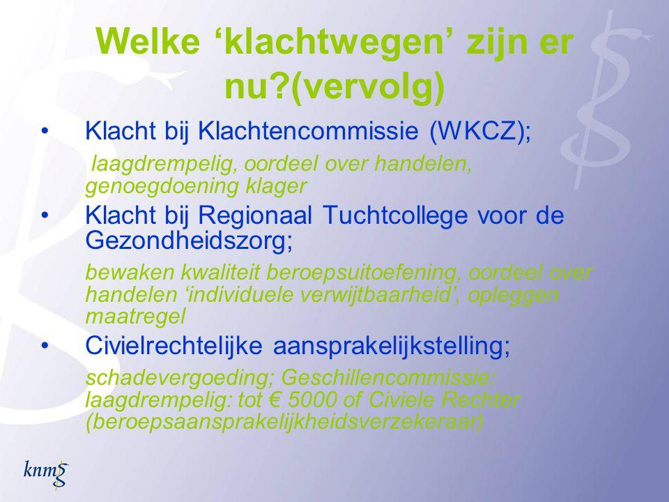 Klachtrecht in de voorgestelde WCZ •klachtgerechtigd bij geschillencommissie is ook belangenorganisatie.