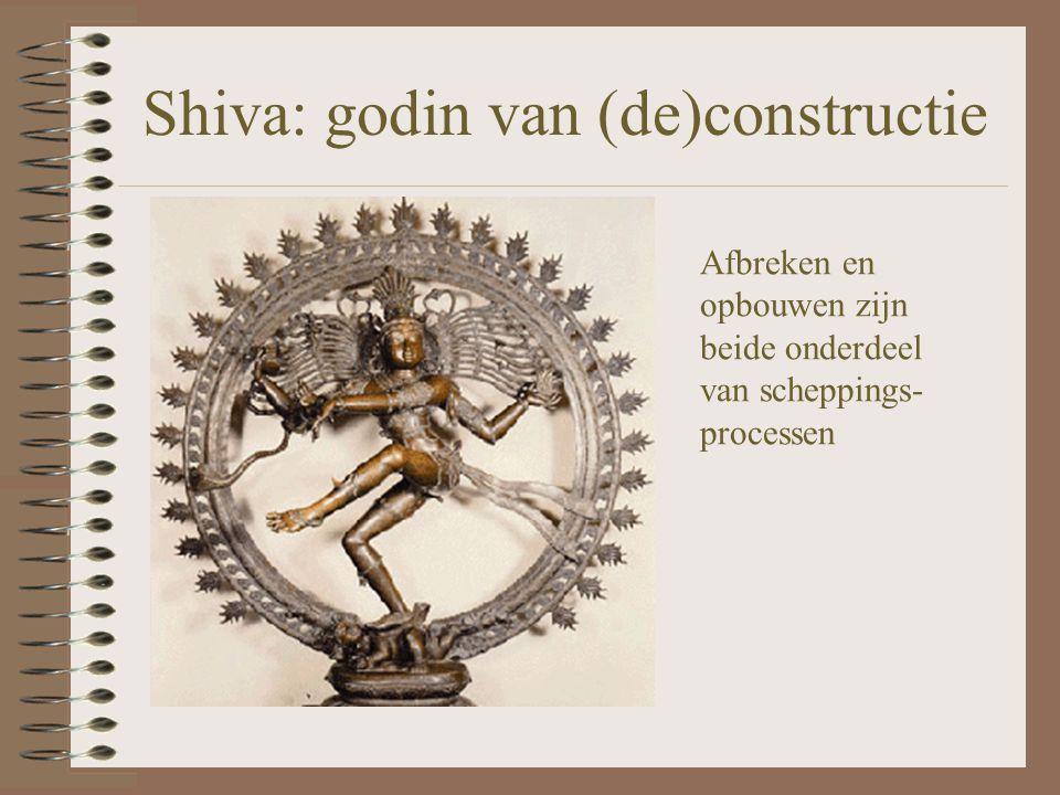 Shiva: godin van (de)constructie Afbreken en opbouwen zijn beide onderdeel van scheppings- processen