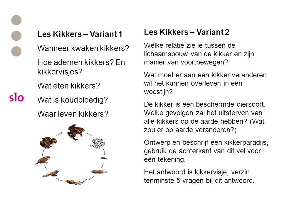 Les Kikkers – Variant 1 Wanneer kwaken kikkers.Hoe ademen kikkers.