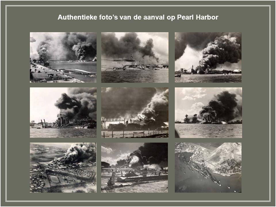 Authentieke foto's van de aanval op Pearl Harbor
