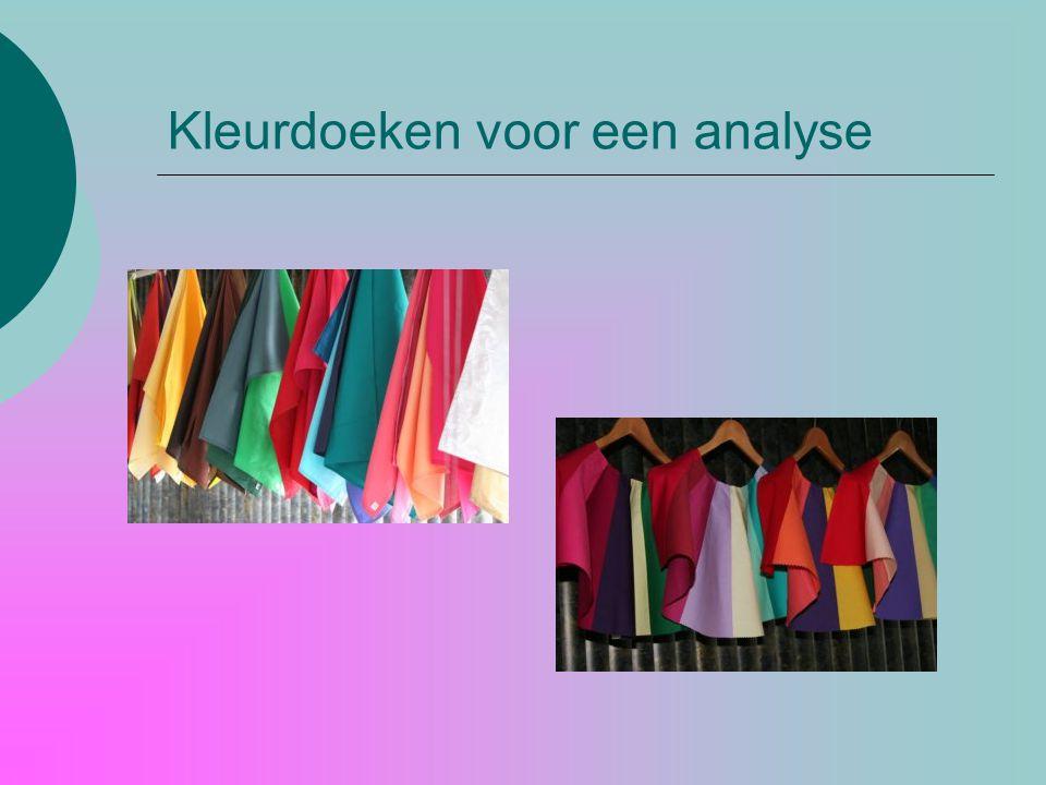 Kleurdoeken voor een analyse