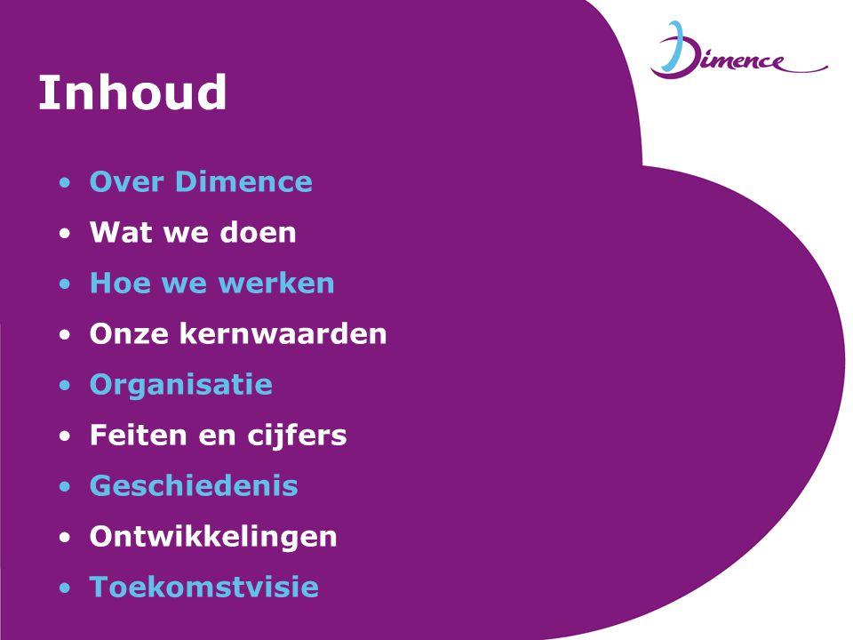 Over Dimence Dimence is een instelling voor geestelijke gezondheidszorg in Oost-Nederland.