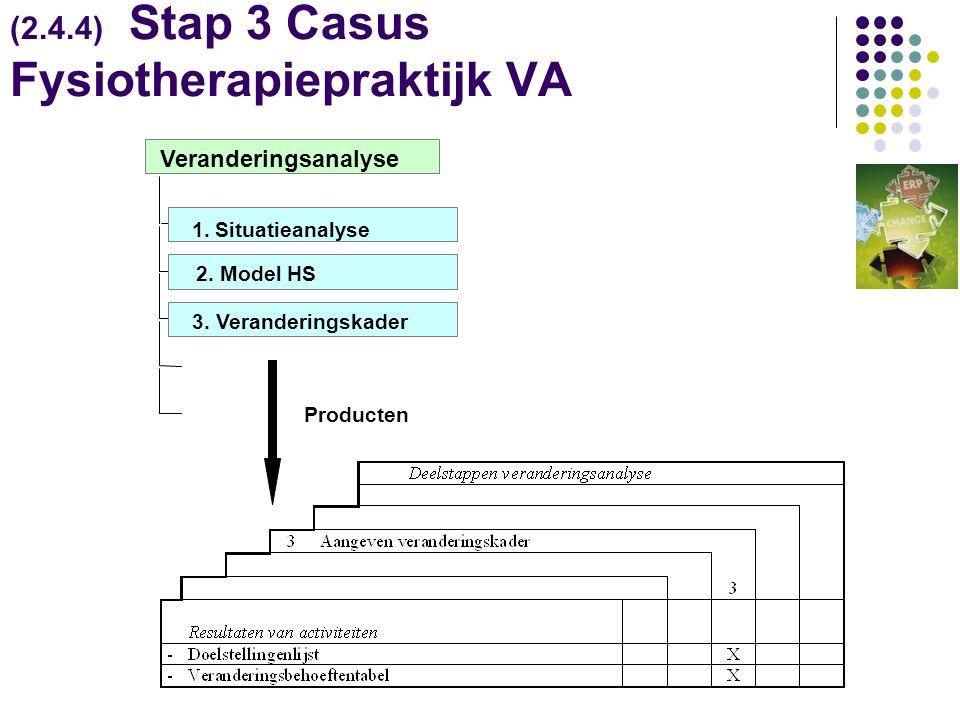 (2.4.4) Stap 3 Casus Fysiotherapiepraktijk VA Producten 3.