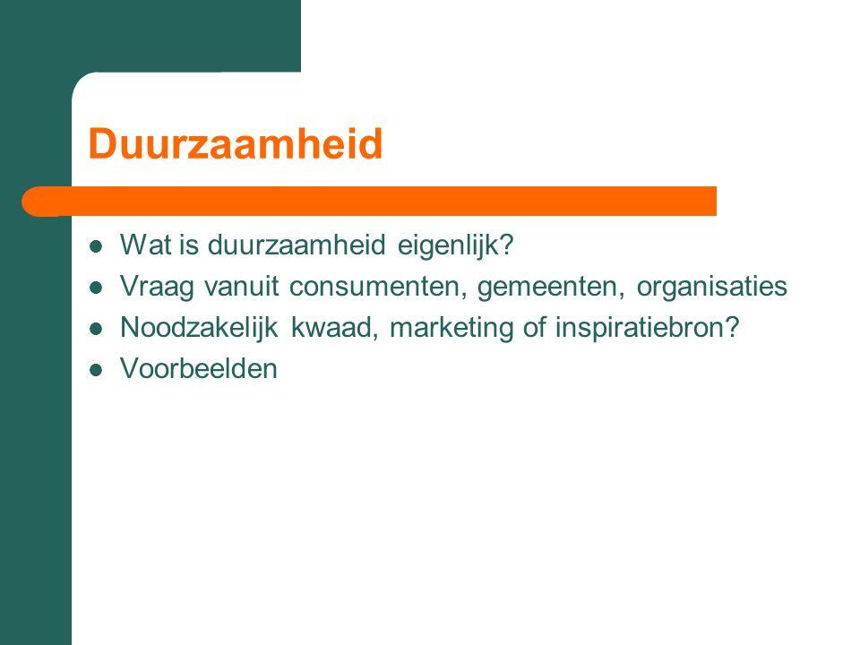 Voorbeelden per richting Zie voorbeelden op www.greenpresents.nl/innovatievetrends www.greenpresents.nl/innovatievetrends